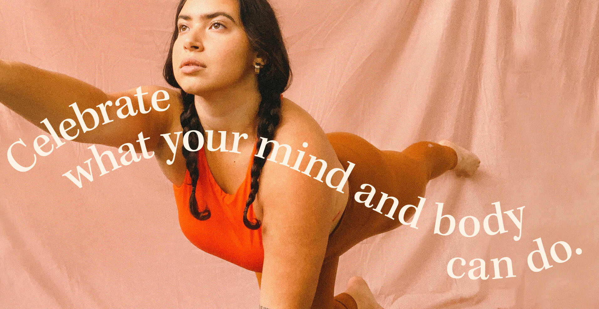 B3 30-day challenge promotional photo with a woman doing yoga and an inspirational quote