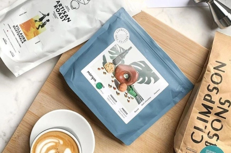 Gustatory beverages coffee from a subscription box